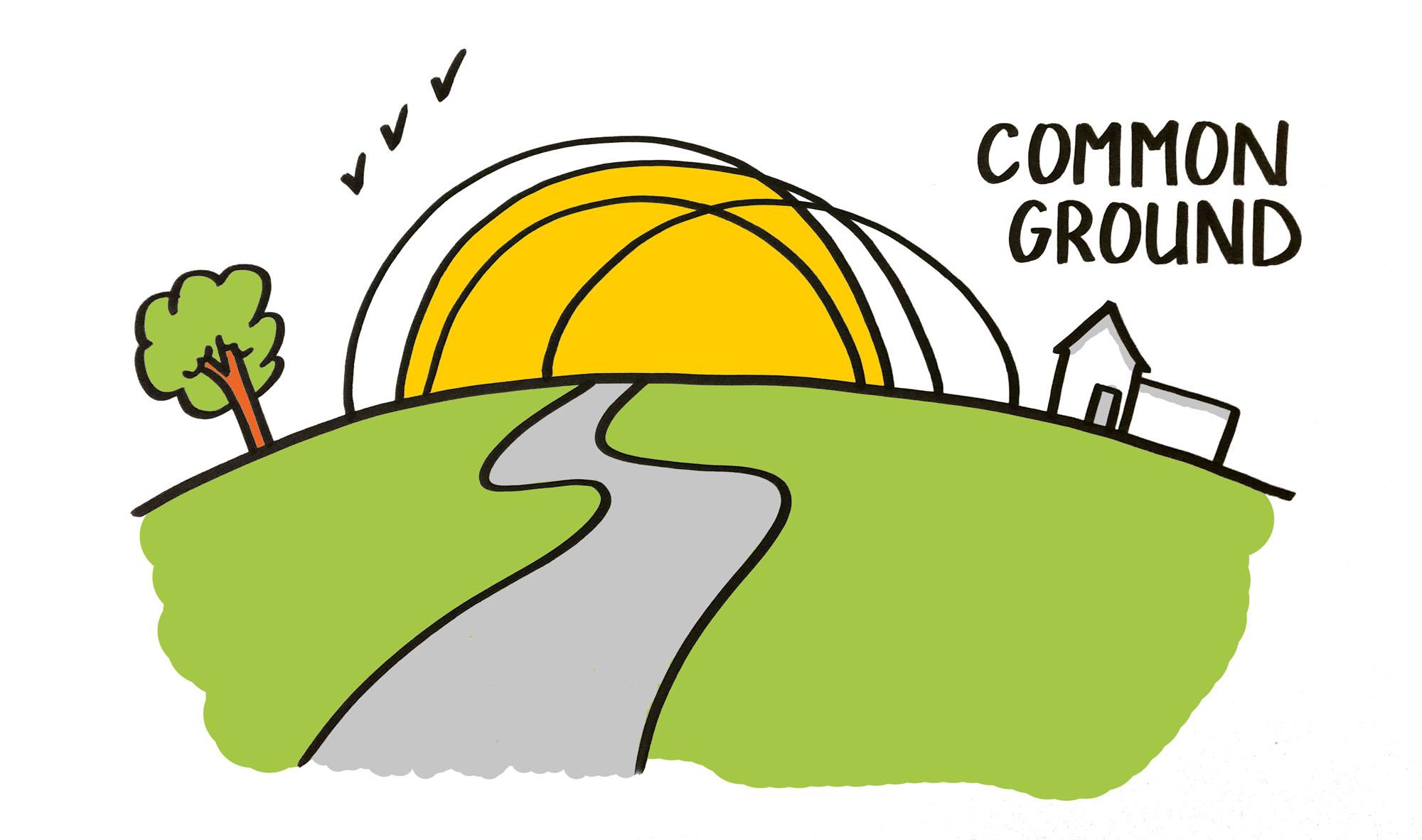 de common ground verbeelden - illustratie uit het boek